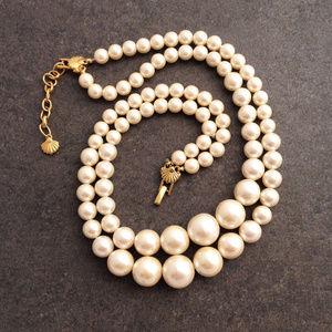 Richelieu Jewelry Vintage 2strand Pearl Statement Necklace